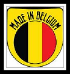 Made in Belgium sign vector image vector image