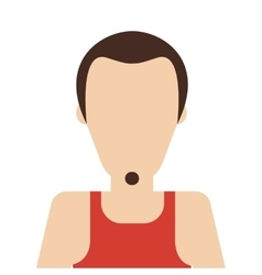Man with sleeveless top and beard vector