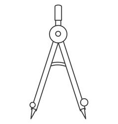Measuring compass icon vector