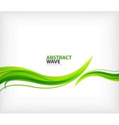 Modern green eco swirl abstraction vector