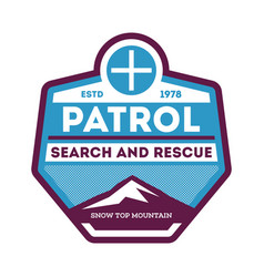 Patrol search and rescue label vector