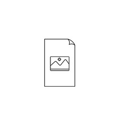 Picture file icon button with picture file icon vector