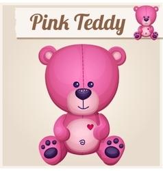 Pink teddy bear Cartoon vector image vector image