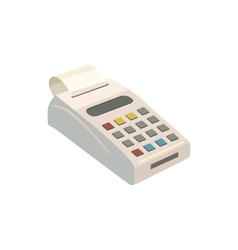 Pos terminal with icon cartoon style vector