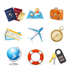 realistic 3d detailed travel and tourism color vector image vector image