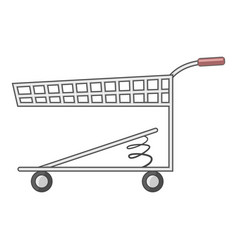 Shopping cart with spring icon cartoon style vector