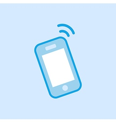 Smartphone Icon Simple Blue vector image