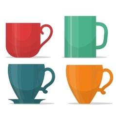 tee mug cup set vector image