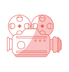 Vintage video camera design vector