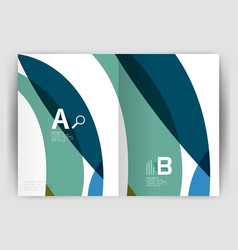 wave design business brochure or annual report vector image vector image