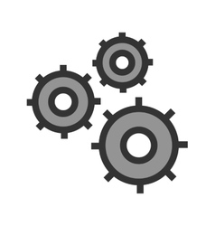 Multiple cogwheels vector