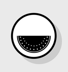 Watermelon sign  flat black icon in white vector