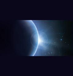 Abstract blue background with planet vector