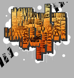 Lovecreative original design in graffiti grunge vector