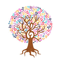 Music note tree concept nature care vector