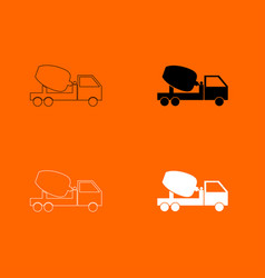 Cement mixers truck icon vector