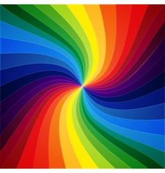Rainbow colorful warped stripes background vector