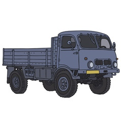 Old all terrain truck vector