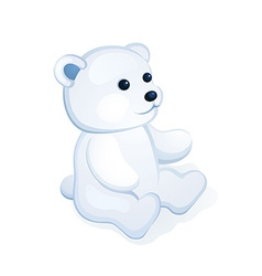Plush white bear vector
