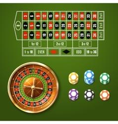 European Roulette Set vector image