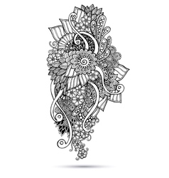 Henna paisley mehndi doodles abstract floral vector