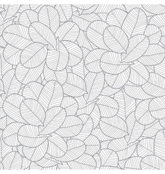 Line art grey leaves texture seamless vector