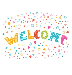 Colorful welcome background with different design vector