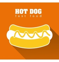 Hot dog fast food design vector