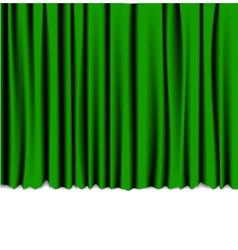 green curtain vector image