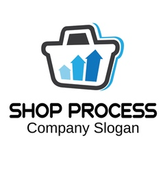 Shop process design vector