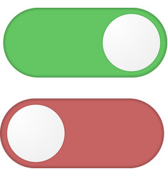 Toggle switch button vector