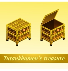 Two magical ancient box from egypt vector