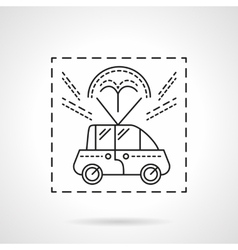 Car delivery flat line icon vector