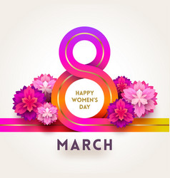 8 march international womens day greeting card vector