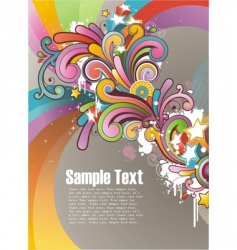 Funky graphic design vector