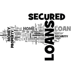 A dream loans for you text word cloud concept vector