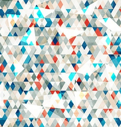 Abstract blue glass triangles seamless with grunge vector