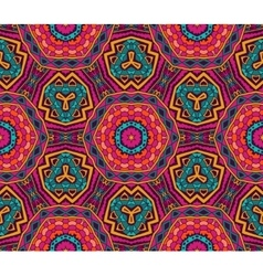 Abstract bright festival ethnic seamless pattern vector