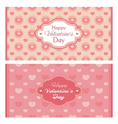 Abstract Valentines day retro cards vector image