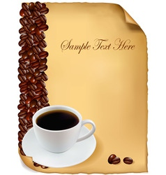 Background menu with cup of coffee vector