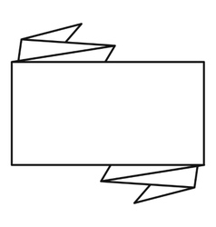 Big square banner icon outline style vector