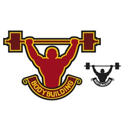 Bodybuilding badge - weightlifter vector