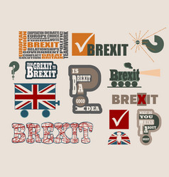Brexit relative design elements vector