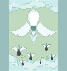 bright idea light bulb concept vector image