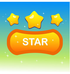 cute stars on shape text box and blink stars vector image