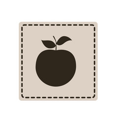 Emblem apple fruit icon vector