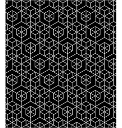 Futuristic continuous black pattern motif abstract vector