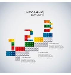 Geometric puzzle icon infographic design vector