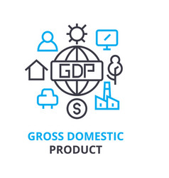gross domestic product concept outline icon vector image