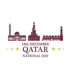 Independence day qatar vector